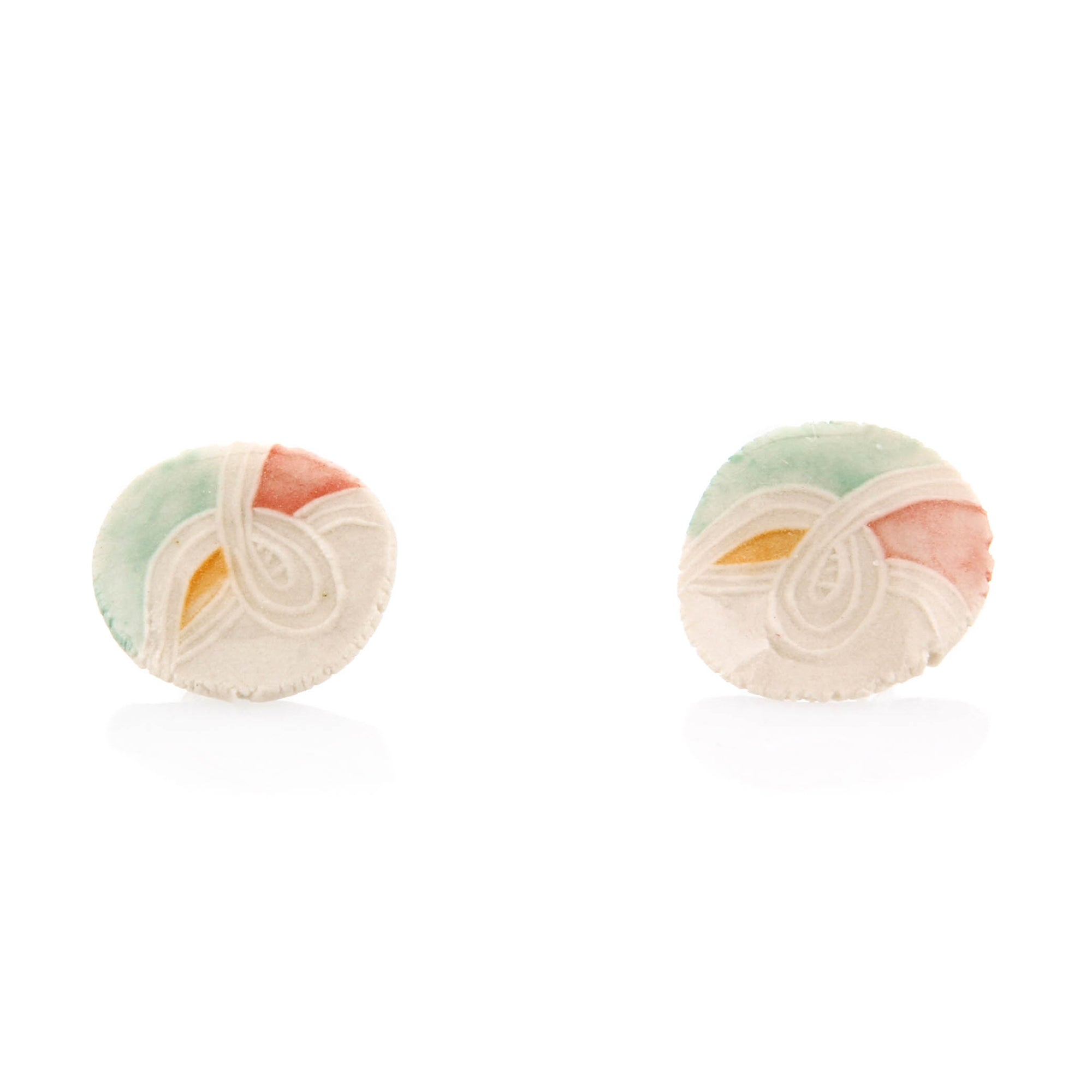 Carole Epp, Porcelain Stud Earrings