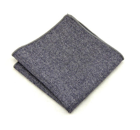 Navy Blue Wool - square - Ply Tie