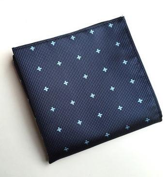 Blue Flowers  Square - square - Ply Tie