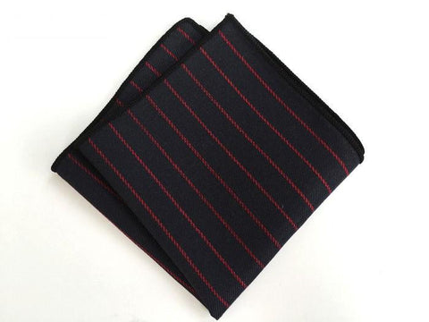 Red Striped Square - square - Ply Tie