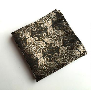 Brown Paisley Square - square - Ply Tie