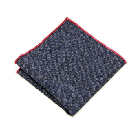Dark Blue Wool Square - square - Ply Tie