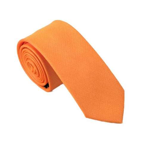 Orange Solid - skinny - Ply Tie