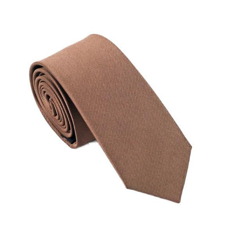 Light Brown Solid - skinny - Ply Tie