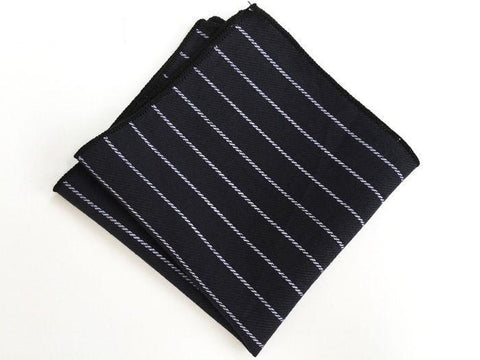 Coal Striped Square - square - Ply Tie