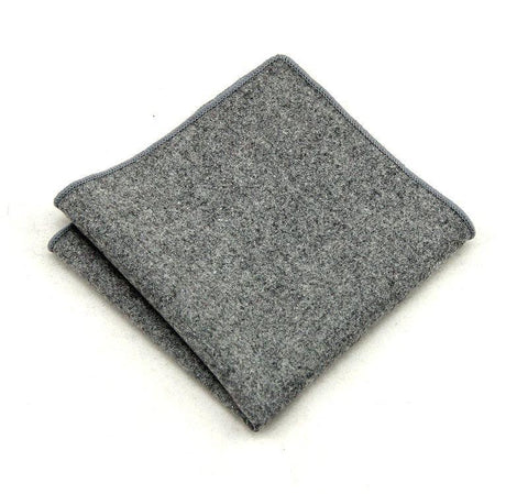 Grey Wool Square - square - Ply Tie