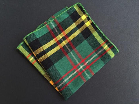 Forest Plaid Square - square - Ply Tie