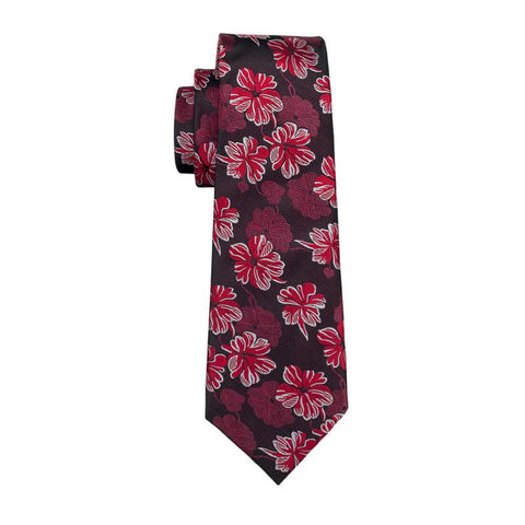 Wine Red Blooming Tie - neck - Ply Tie