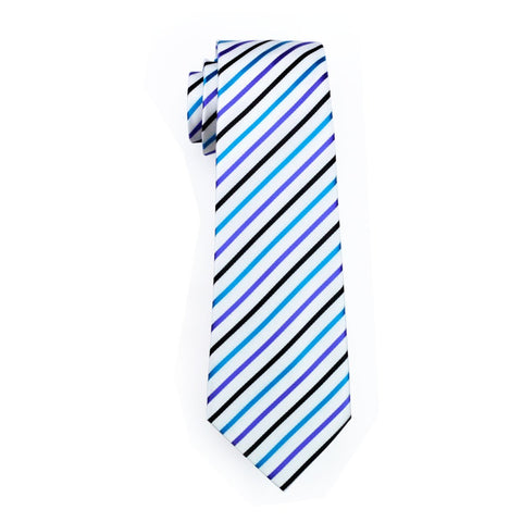 White Striped Tie - neck - Ply Tie