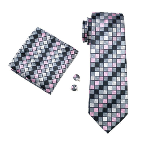 Geometry Check Tie Set - neck - Ply Tie