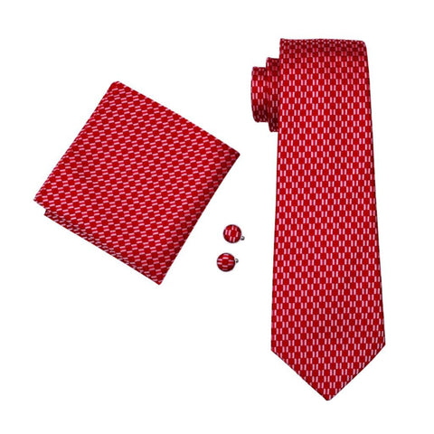Cherry Checkered Tie Set - neck - Ply Tie