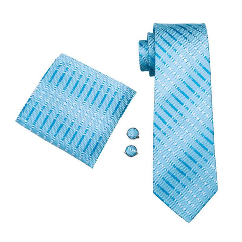 Blurry Blue Tie Set - neck - Ply Tie
