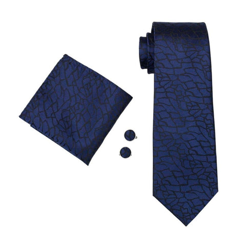 Midnight Blue Tie Set - neck - Ply Tie