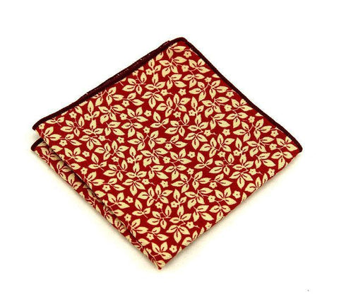 Deep Red Floral Square - square - Ply Tie
