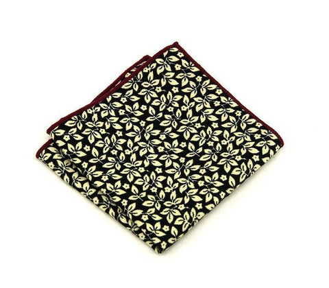 Deep Night Floral Square - square - Ply Tie