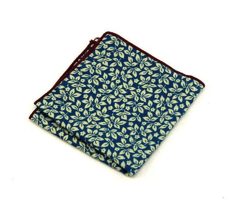 Deep Blue Floral Square - square - Ply Tie