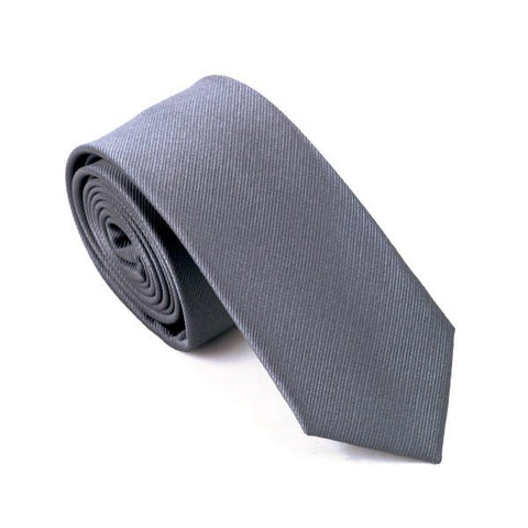 Grey Solid - skinny - Ply Tie
