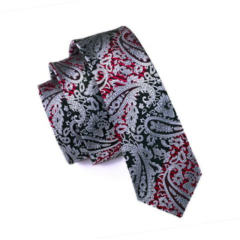 Melted Grey Red Skinny Tie - skinny - Ply Tie