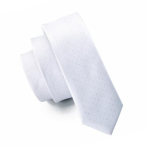 White Solid - skinny - Ply Tie