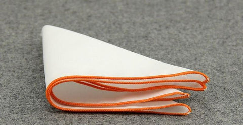 Orange Lined Cotton Sqaure - square - Ply Tie