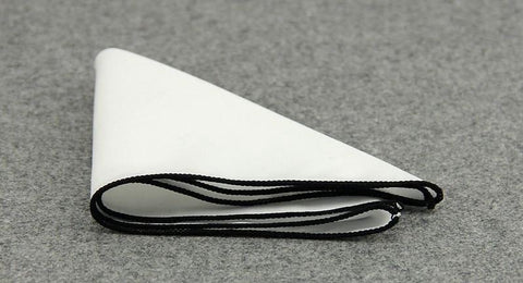 Black Lined Cotton Sqaure - square - Ply Tie