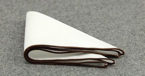 Brown Lined Cotton Sqaure - square - Ply Tie