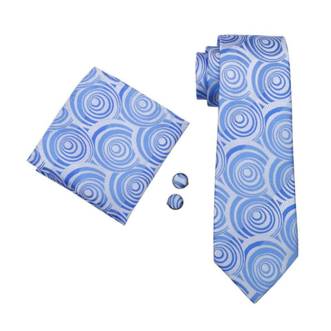 Blue Illusion Tie Set - neck - Ply Tie