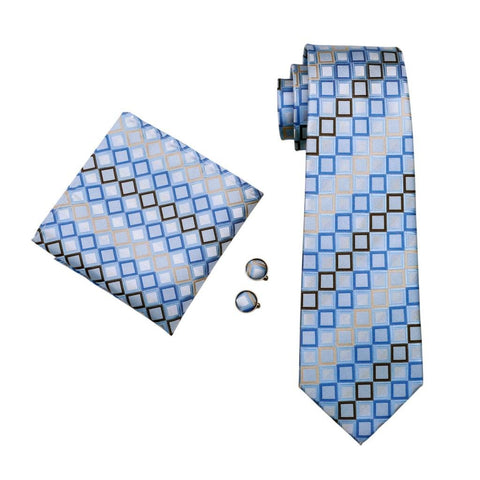 Blue Windows Tie Set - neck - Ply Tie