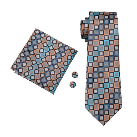 Grey Windows Tie Set - neck - Ply Tie