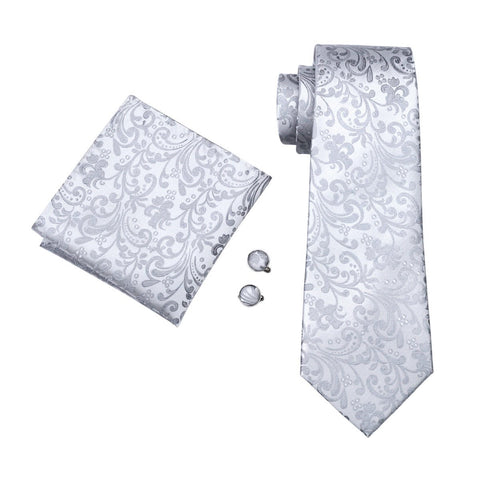 Winter Crystal Tie Set - neck - Ply Tie