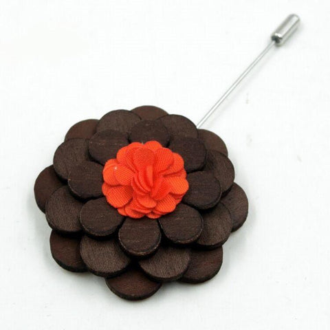 Orange Flower Brooch - broo - Ply Tie