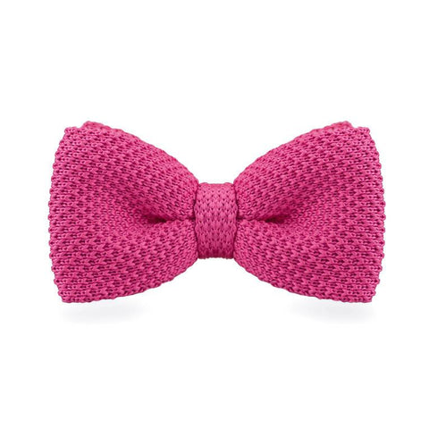 Pink Knitted Bow Tie - bow - Ply Tie