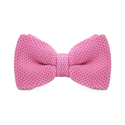 Light Pink Knitted Bow Tie - bow - Ply Tie
