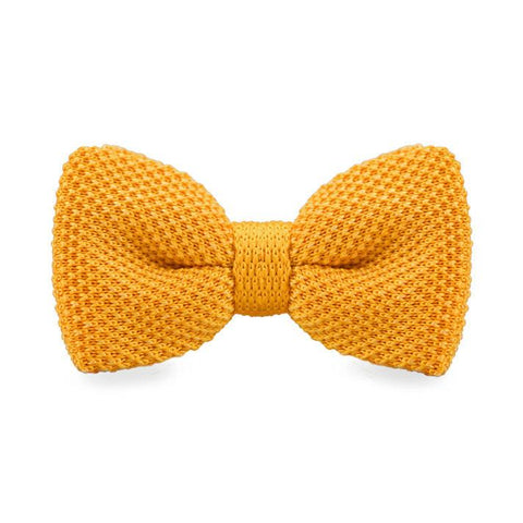 Orange Knitted Bow Tie - bow - Ply Tie