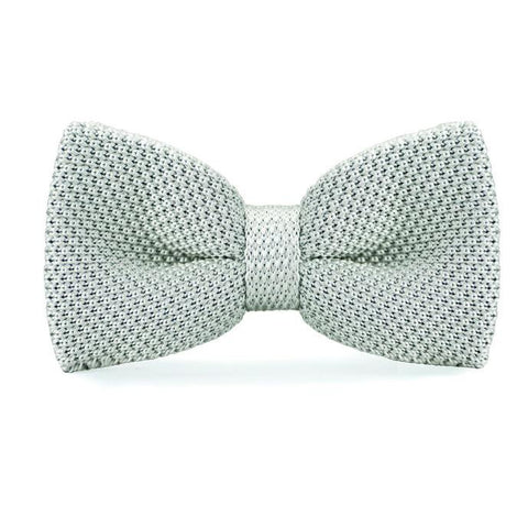 Grey Knitted Bow Tie - bow - Ply Tie