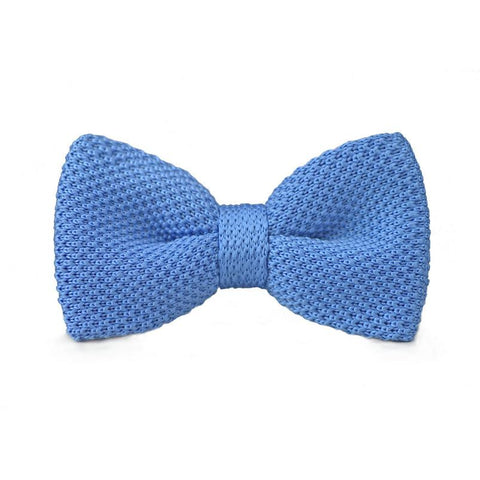 Blue Knitted Bow Tie - bow - Ply Tie