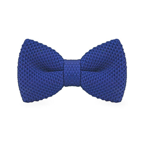 Navy Blue Knitted Bow Tie - bow - Ply Tie