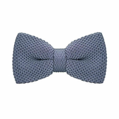 Dark Grey Knitted Bow Tie - bow - Ply Tie