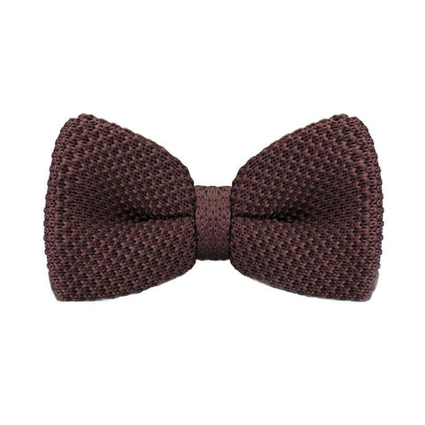 Dark Brown Knitted Bow Tie - bow - Ply Tie