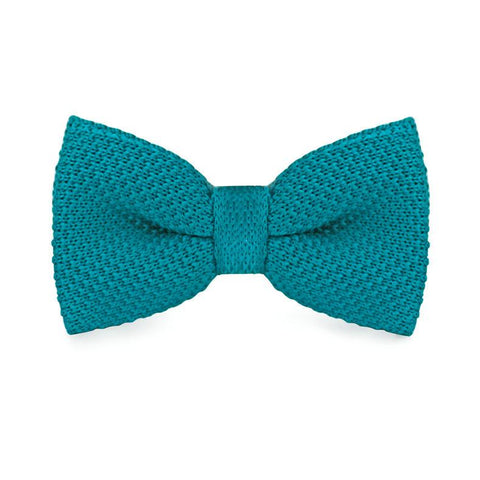 Cyan Knitted Bow Tie - bow - Ply Tie