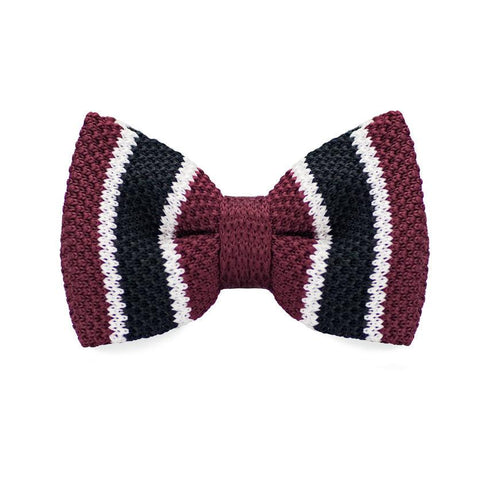 Grape Darkish Knitted Bow Tie - bow - Ply Tie