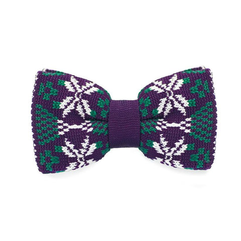 Great Kaleidescope Knitted Bow Tie - bow - Ply Tie