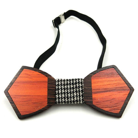 Handmade Edgy Duo Wooden Ties - wood - Ply Tie