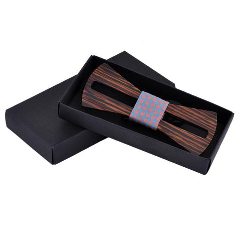 Handmade Hollow Line Wooden Ties - wood - Ply Tie
