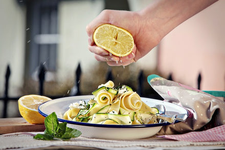 5 To Thrive's Pappardelle with Courgette Ribbons, Lemon & Ricotta