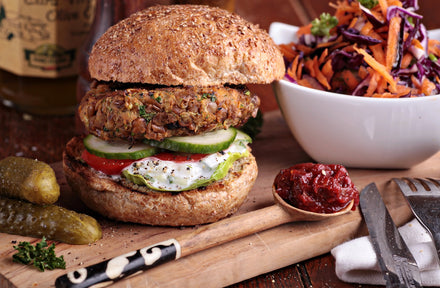 Thai Tuna Burgers with Asian Slaw