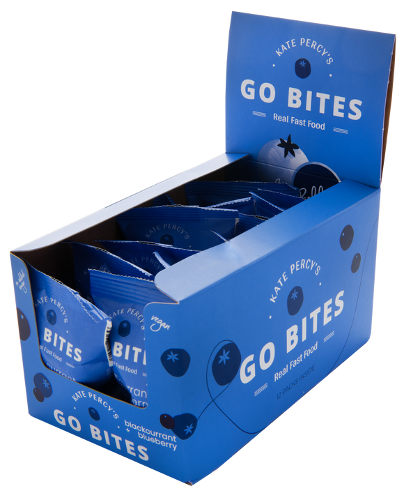 Kate Percy's GO BITES® Blackcurrant & Blueberry 12 Pack