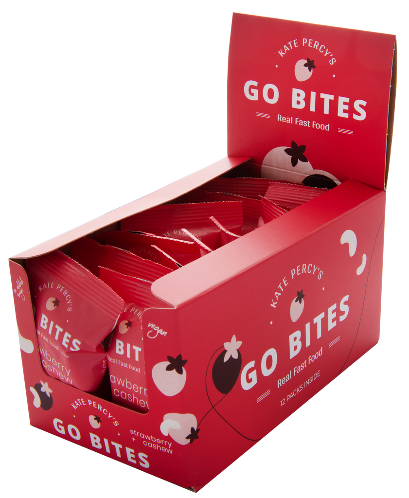 GO BITES® Strawberry & Cashew 12 Pack