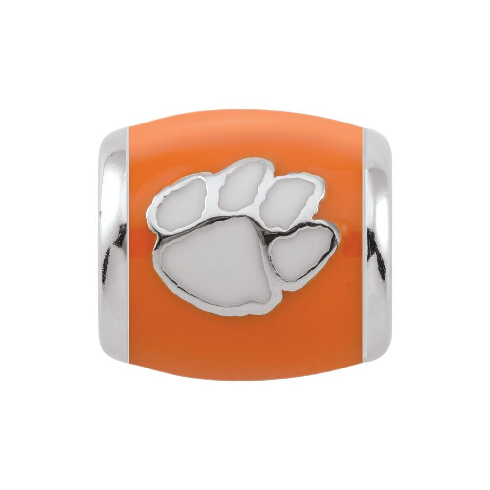 Clemson U Spirit Orange Campus Life Charms Sterling Silver Enamel Collegiate Clemson University schools