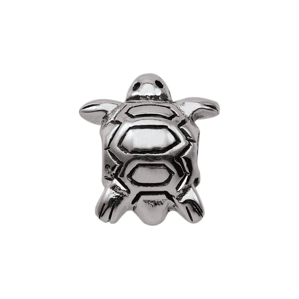 Tiny Turtle Personagirl charm Sterling Silver Silver